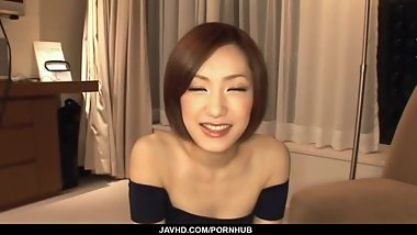 Adorable Nene Iino provides superb blowjob
