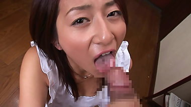 Asian Girl Handjob Facial