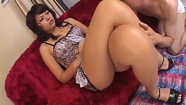 Foot fetish porn scenes along hot Japanese AV Model