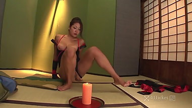 Hiyoko Morinaga Pussy Juice Puts Out Candle (Uncensored JAV)