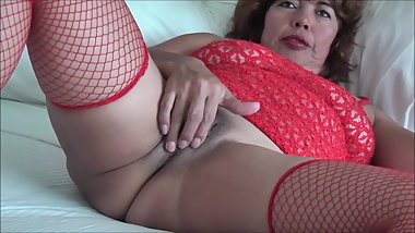 ASIAN WIFE IN RED PANTY