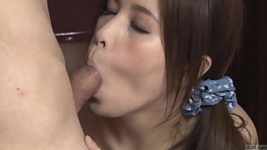 Uncensored voluptuous Japanese blowjob in hallway Subtitled