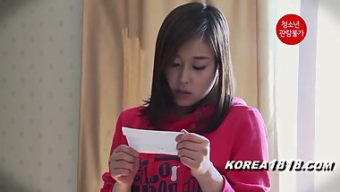 KOREA1818.COM - Home Alone Teen Girl Korean