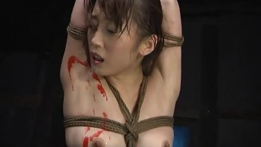 A Japanese Lady got wax torture and hard fuck