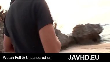 Interracial couple outdoor prelude - watch full uncensored on http://javhd.eu