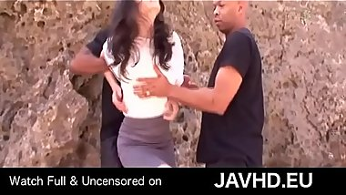 Japanese student caught for interracial threesome - watch full uncensored on http://javhd.eu