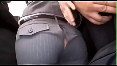 Asian women was embarrassed when her pants were torn apart - Pt2 On HDMilfCam.com