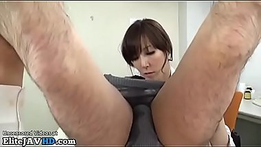 Japanese nurse takes warm patients cum in mouth - More at Elitejavhd.com