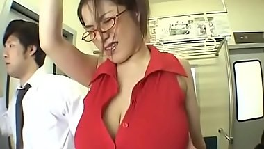 A big boobs Asian Milf without a bra on train - Pt2 On HDMilfCam.com