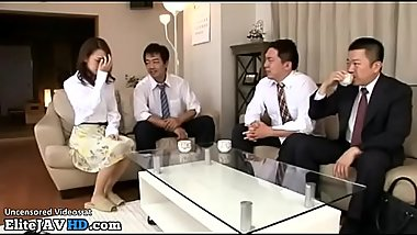 Japanese beauty destroyed by husband friends - More at Elitejavhd.com