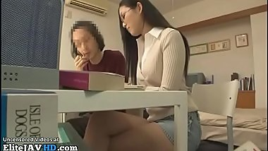 Japanese home teacher helps nerd student - More at Elitejavhd.com