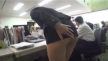 MILF bare buttocks by her colleague on office - Pt2 On HDMilfCam.com