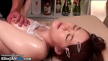 Japanese massage with 18yo beauty goes wrong 2 - More at Elitejavhd.com