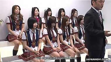 Japanese schoolgirls do some naughty stuff during the idol competition