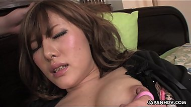 Seductive Asian brunette getting fingered and toyed so well